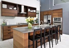 black wooden stools with back combined with light brown wooden