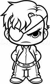 Starbucks Coloring Page Beautiful How To Draw Chibi Governor From The Walking Dead Step By