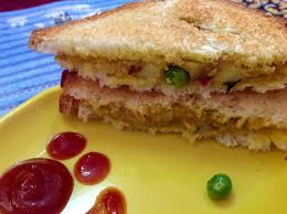 Potato Peas Sandwich Aloo Matar Toast