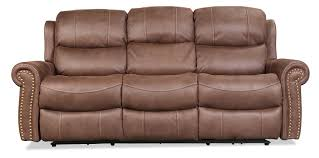 Flexsteel Power Reclining Couch by Legend Power Reclining Sofa Brown Levin Furniture