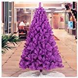 Artificial Christmas Tree Xmas Purple Pine With Solid Metal Legs Perfect For Indoor And Outdoor