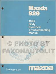 100 1994 Mazda Truck 1992 929 Body Electrical Troubleshooting Manual Original