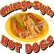 100 Hot Dog Food Truck Amazoncom Chicago Style S DECAL For Concession