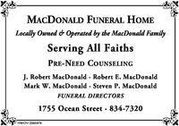 Macdonald Funeral Home in Marshfield MA 781 834 7320 Services