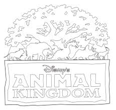 Disney Animal Kingdom World Haunted Mansion Coloring Pages