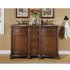 48 Bathroom Vanity Without Top by 52 Inch Small Double Sink Vanity With Baltic Brown Countertop