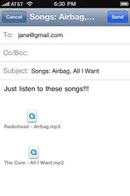 Song2Email Send Songs From Your iPhone iPad And iPod Touch To