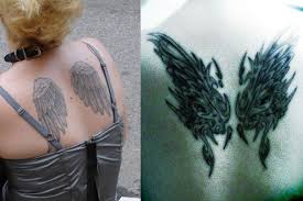 Nice Angel Wings Tattoos