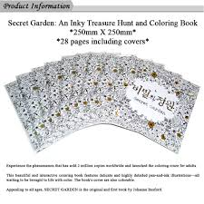 Secret Garden Coloring Book For Release Stress Pressure