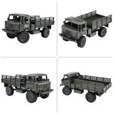 1pc 1:16 4WD/ 10km 2.4G RC Crawler Military Truck DIY Assemble Kit ...