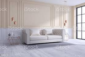 moderne und klassische wohnzimmer interior design weiß und gemütliche raumkonzept haus dekoideen 3drendering stockfoto und mehr bilder architektur