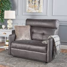 Noble House Microfiber 2 Seater Recliner,Slate
