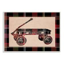 100 Radio Flyer Fire Truck Stupell Industries 10 In X 15 In Plaid By Daphne