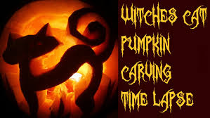 Tinkerbell Pumpkin Carving by Pumpkin Carving Time Lapse Witches Cat Youtube