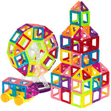 Picasso Tiles Magnetic Building Blocks by Best Choice Products Kids 158 Piece Clear Multi Colors Mini