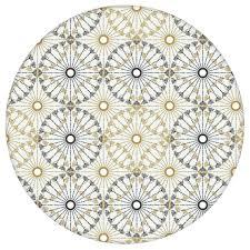 moderne tapete charming circles mit pfeil kreisen beige schwarze vlies tapete ornamenttapete für schlafzimmer