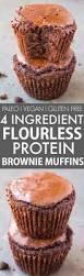 Vegan Pumpkin Muffins No Oil by 4 Ingredient Flourless Protein Brownie Muffins Paleo Vegan