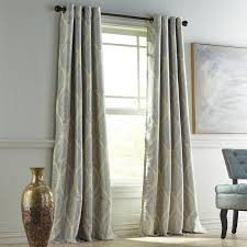 Curtains With Grommets Pattern by Reese Gray Grommet Blackout Curtain Pier 1 Imports