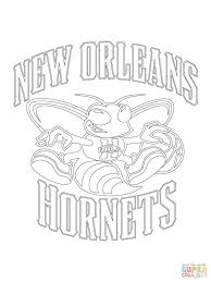 Printable Nba Coloring Pages Click New Hornets Team Logo Basketball