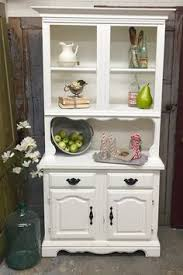 Shabby Chic Dining Room Hutch by Country Buffet And Hutch Painted With Annie Sloan Chalk Paint