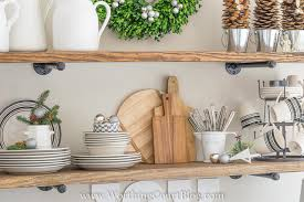New Shelves In My Kitchen All Decked Out For Christmas Worthing