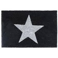 paillasson tapis porte d entrée essuie pieds fibre de coco noir
