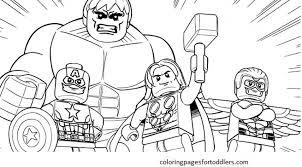 Lego Avengers Coloring Pages Getcoloringpages With Regard To