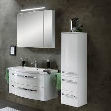 badmöbelset fes 4005 66 badezimmer set spiegelschrank mit steckdose und led in polarweiß lack b h t 137 200 49 6cm