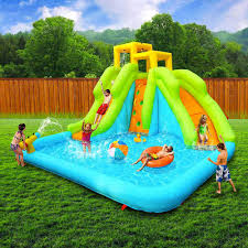 Inflatable Water Slide Lagoon Water Park   Jumping Castle Bouncer ... Water Park Inflatable Games Backyard Slides Toys Outdoor Play Yard Backyard Shark Inflatable Water Slide Swimming Pool Backyards Trendy Slide Pool Kids Fun Splash Bounce Banzai Lazy River Adventure Waterslide Giant Slip N Party Speed Blast Picture On Marvellous Rainforest Rapids House With By Zone Adult Suppliers