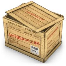 Open Wooden Crate Icon PNG ClipArt Image