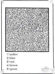 Numbered Coloring Pages Printables Advanced Color By Number Printable In Cure Print Photo