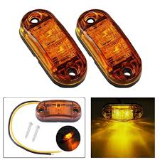 100 Truck Marker Lights Led Side Blinker For Trailer S Piranha Caravan Side Clearance Light Lamp