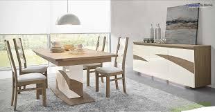 salle à manger contemporain wapa chêne meubles bois massif avec