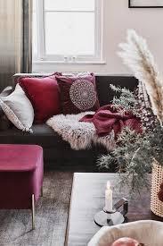 burgundy stilvolle farbakzente für den winter wohn