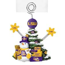 LSU Tigers Christmas Tree Photo Holder