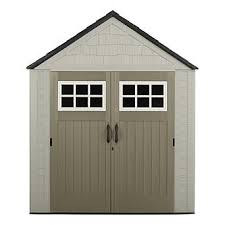 rubbermaid 1887155 outdoor resin storage shed 7 x 7