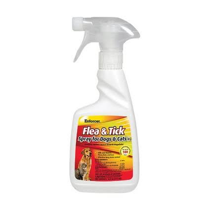 Enforcer Dog and Cat Flea Tick Spray - 16oz