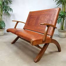 Rare Vintage Leather Folding Sofa From Ecuador By Angel ... Rd9582 2 Vintage Samson Folding Chairs Shwayder Bros Samso Amazoncom Wooden Chair Modern Ding Natural Solid Leather Home Design Set Of Twenty Four Bamboo Red Home Lifes French Directors In Beech 1960s Antique Armchair With Shadows Stock Photo Luggage On Edit Folding Chair Restorno Chairsantique Arm Chairsoccasional Pair Armchairs In Wood And Brown Galerie