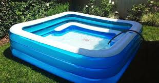Fancy Kiddie Pool With Built In Slide