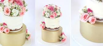 Gold Naked Wedding Cake