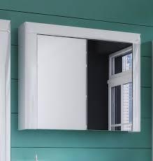 bad spiegelschrank schrank badezimmer weiß weiß hochglanz spiegel 80cm