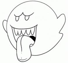 Mario Coloring Pages Boo