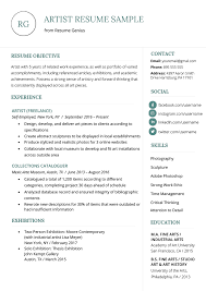 Artist Resume Sample & Writing Guide | Resume Genius 30 Resume Examples View By Industry Job Title 10 Real Marketing That Got People Hired At Nike How To Write A Perfect Food Service Included Phomenal Forager Sample First Out Of College High School And Writing Tips Work Experience New Free Templates For Students With No Research Analyst Samples Visualcv Artist Guide Genius Administrative Assistant Example 9 Restaurant Jobs Resume Sample Create Mplate Handsome Work
