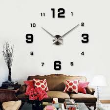 2017 special large diy quartz 3d wall clock living room big
