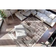 vintage teppich creme braun used look wohnzimmer verschied farben 80x150cm