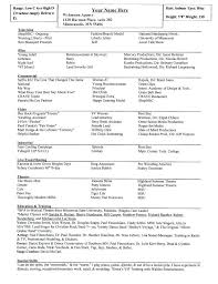 Example Of An Acting Resume Sample Special Skills On Template Technical Theatre Uk For