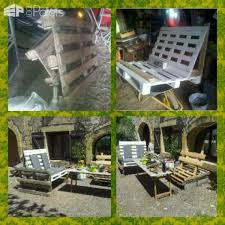 The Use Of Wooden Pallets For Garden Creations Lounges Sets