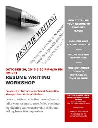 Free Download Sample Resume Writing Workshop Of
