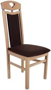gepolsterter brauner stuhl aus massiver buche
