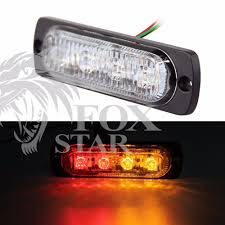 Bright Red & Amber 6-LED Car Truck Van Side Strobe Light Warning ... 36w Amber Truck 12led Flash Emergency Hazard Warning Strobe Light Red Blue 16 Led Lights High Intensity Car Trailer Side Marker Strobe Lights 612 Flashing White Recovery Beacon 18led Firefighter Vehicle Dash Can Civilians Use In Private Vehicles Xyivyg 54 Bars Deck China Power Super Bright Tractor 3 Inch 45w Light V16 For American Simulator Ultra Slim Waterproof 18w 6led Surface Mount Minibrights Watt Amber Markerstrobe Peterbilt Tow